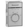 Honeywell Medium Duty Line Voltage Thermostat, 50 F to 86 F, Heat Only SPST- breaks on temperature rise; with positive off