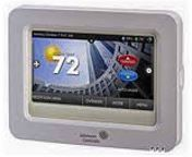 Johnson Controls Residential high-resolution color touch screen digital room thermostat with humidity control